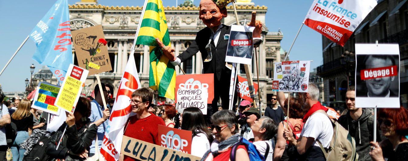 Во Франции десятки тысяч левых активистов митингуют против реформ Макрона