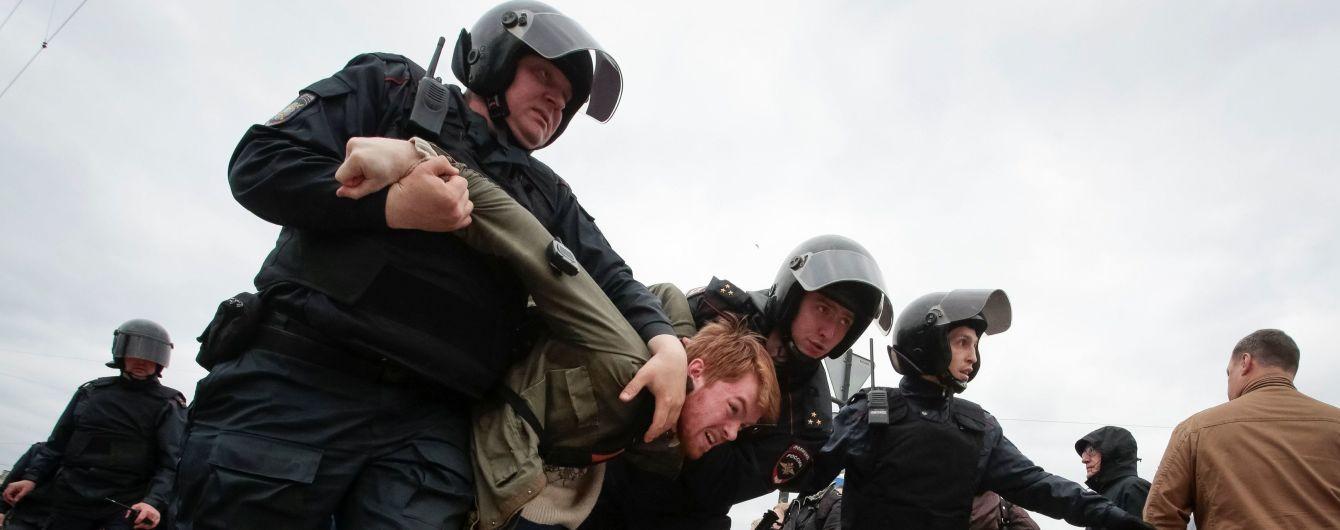 Кількість затриманих на мітингах у Росії перевищила півтори тисячі осіб