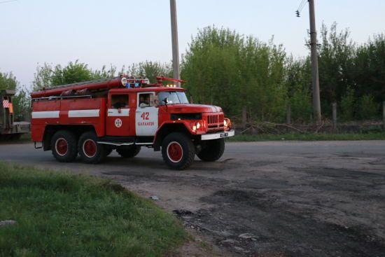 У Балаклії локалізували пожежу на території військової частини