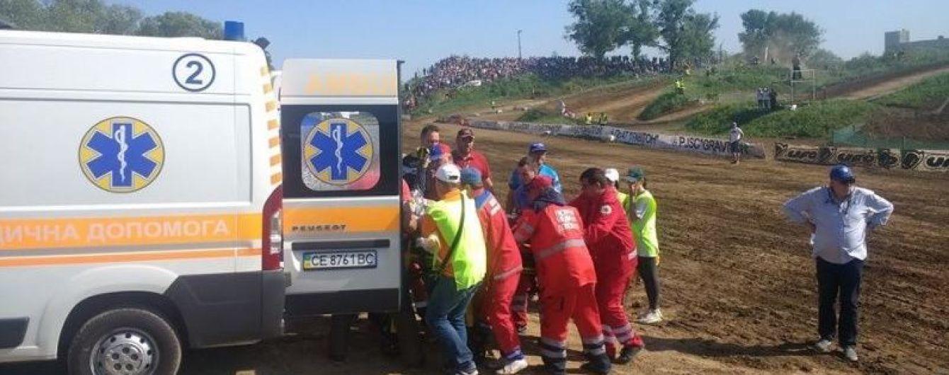 Во время мотокросса на Буковине серьезно травмировался чемпион мира