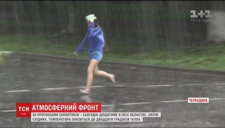В Сумской, Полтавской, Харьковской и Днепропетровской областях прогнозируют ливни и град