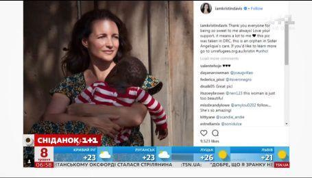 Кристиан Дэвис во второй раз стала мамой