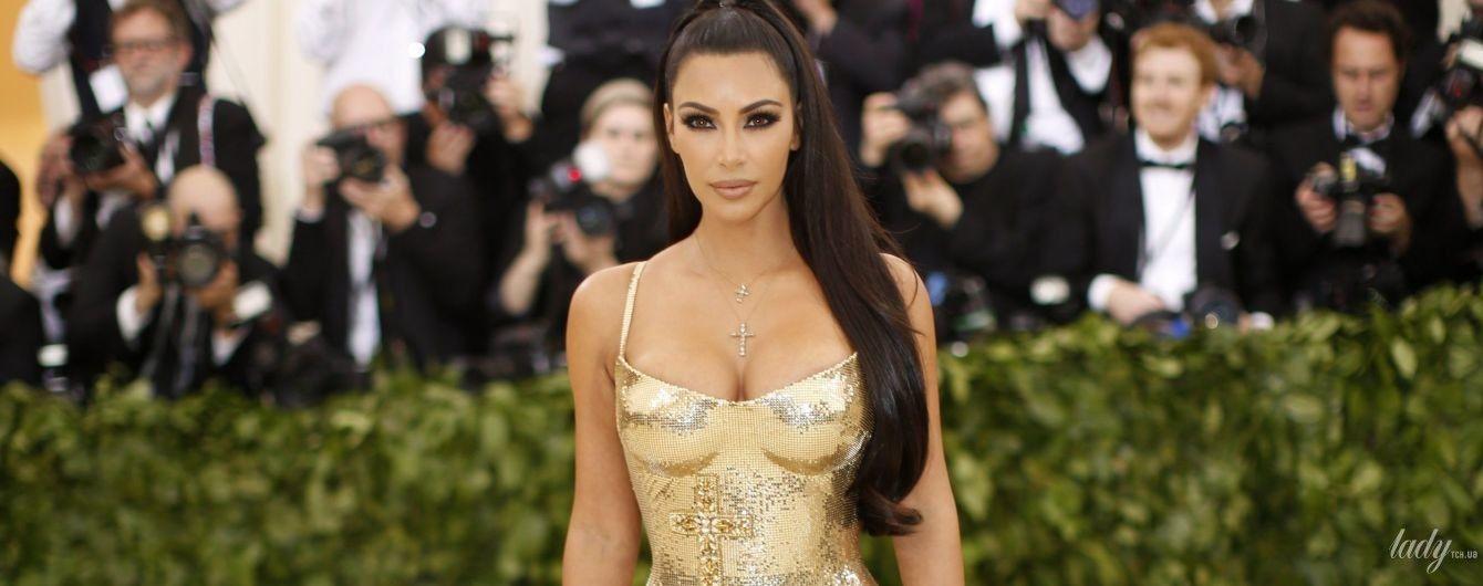 Ослепительно хороша: Ким Кардашьян в золотом платье на Met Gala-2018