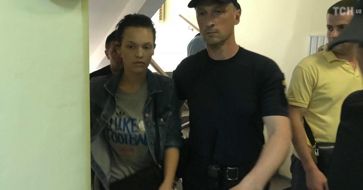 Екатерина Лапинская на суде