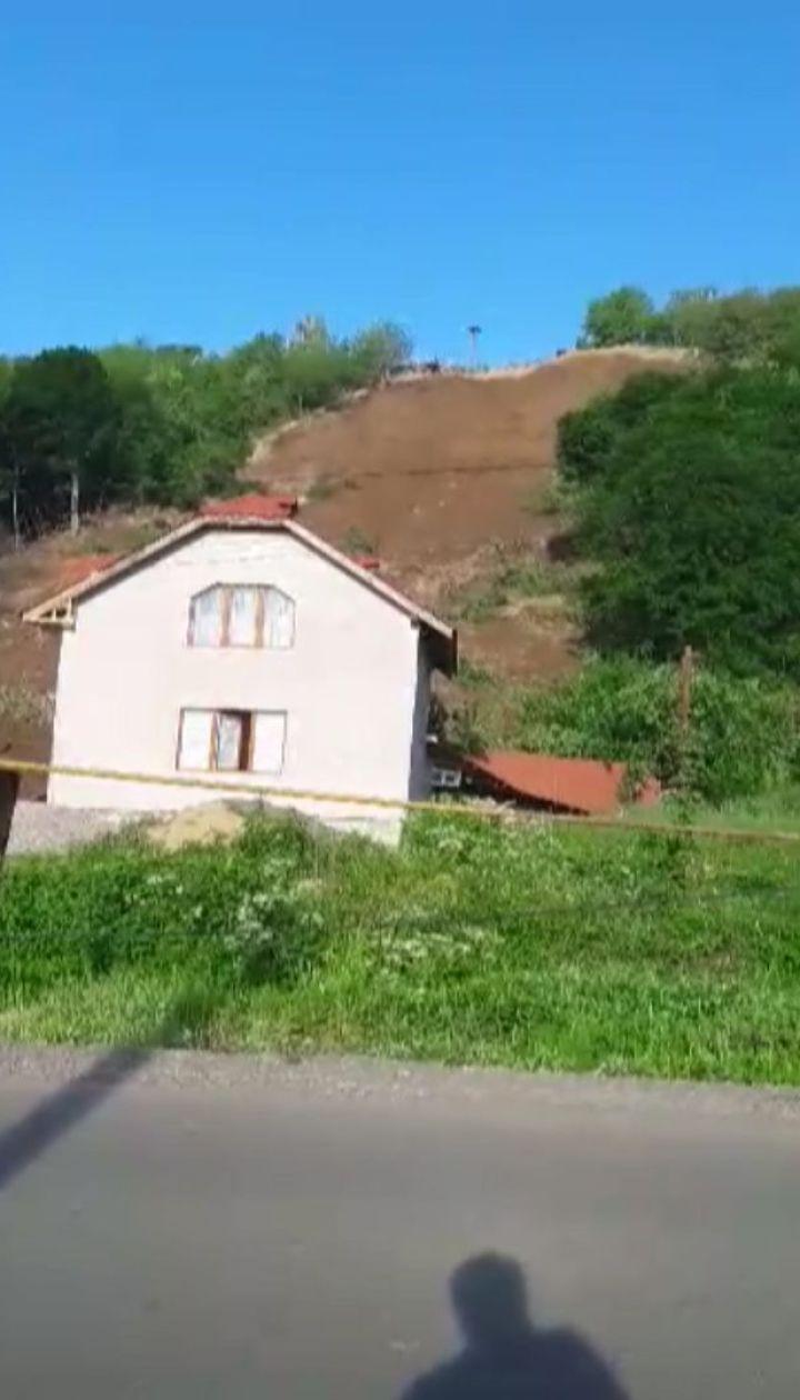 Оползень в Мукачево