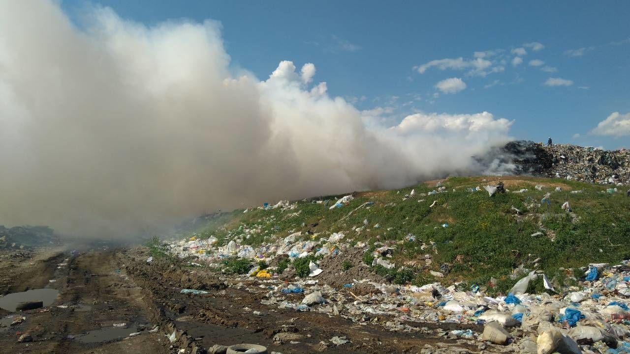 пожежа на сміттєзвалищі в Підгородньому на Дніпропетровщині_1
