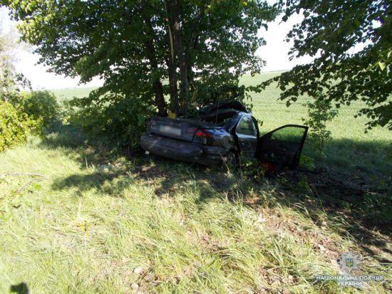 На Чернігівщині авто вилетіло з дороги і врізалось у дерево, загинуло подружжя з немовлям