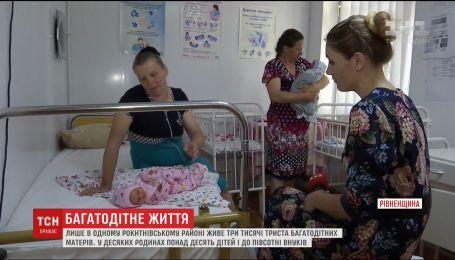 У одному із районів Рівненщини проживає більше трьох тисяч багатодітних мам