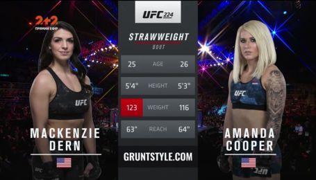 UFC 224. Маккензи Дерн - Аманда Купер. Видео боя