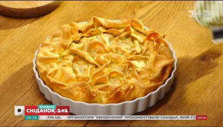 Багатошаровий пиріг із зеленню та сиром -  Солодка неділя