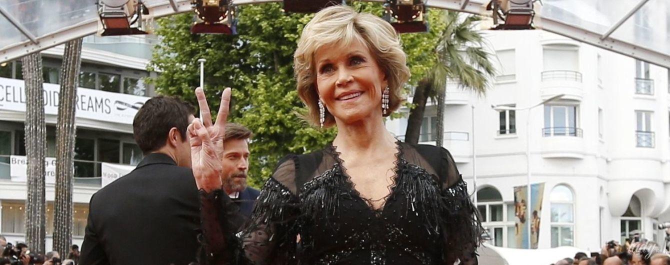 Стройная и элегантная: 80-летняя Джейн Фонда в винтажном платье появилась на красной дорожке