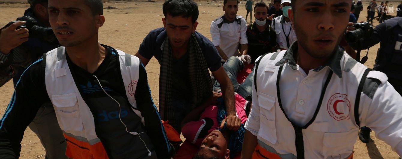 Палестинские власти заявили о почти шести десятков погибших от кровавых столкновений в Секторе Газа