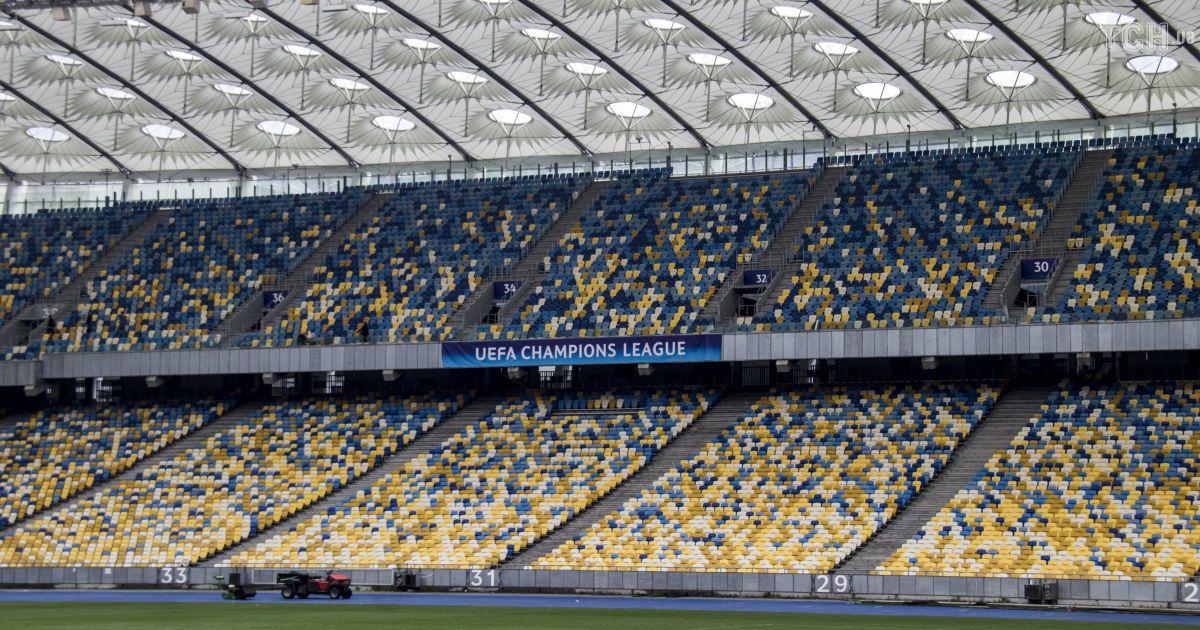 """НСК """"Олимпийский"""" готовят к финалу Лиги чемпионов, который состоится 26 мая.   Фото - Надежда Мельниченко @ ТСН Проспорт"""