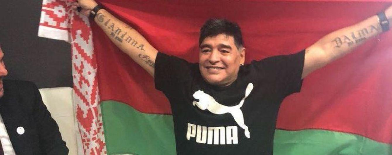 Легендарный Марадона будет работать в клубе Милевского