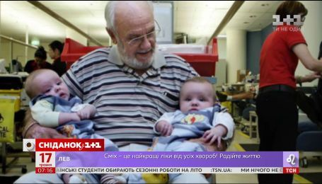 Золотая кровь: в Австралии живет уникальный донор, спасающий жизни младенцам