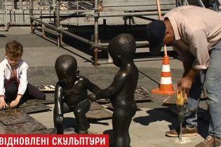 В Киеве восстановили разрушенный наркоманами памятник Кию, Щеку и Хориву