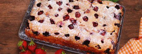 Ванильный клубничный пирог