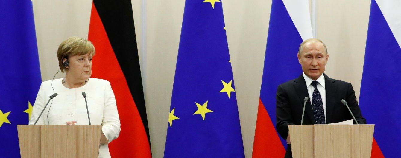 Меркель розкрила суть розмови з Путіним про війну в Україні