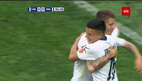 Черноморец - Зирка - 1:0. Видео гола Третьякова