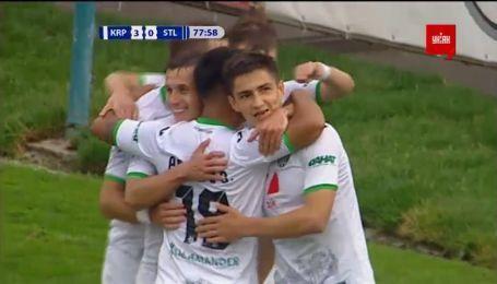 Карпаты - Сталь - 3:0. Видео гола Шведа