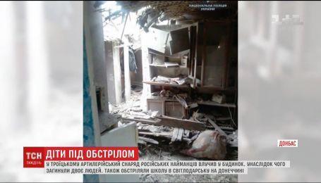 В зоне ООС боевики попали в жилой дом и школу