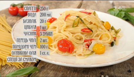 Паста з овочами - рецепти Сенічкіна
