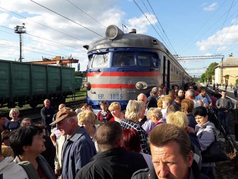 перекриття залізниці у Львові