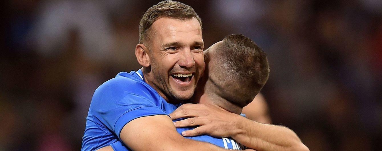 Шевченко отметился голом в прощальном матче легендарного итальянского футболиста