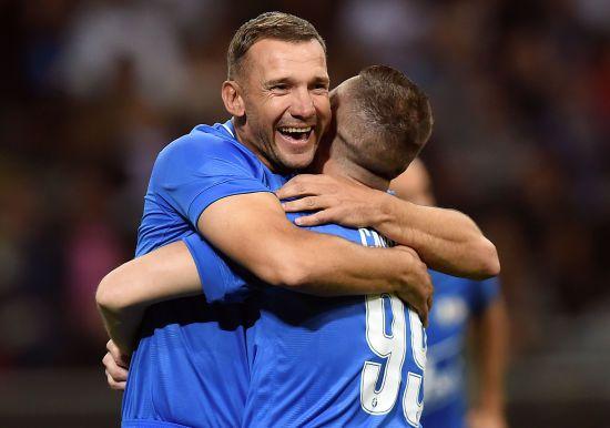 Шевченко відзначився голом у прощальному матчі легендарного італійського футболіста