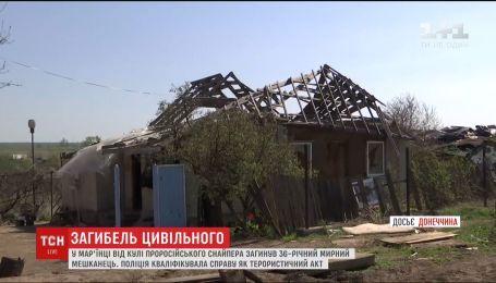 В Донецкой области пророссийский снайпер застрелил мирного жителя