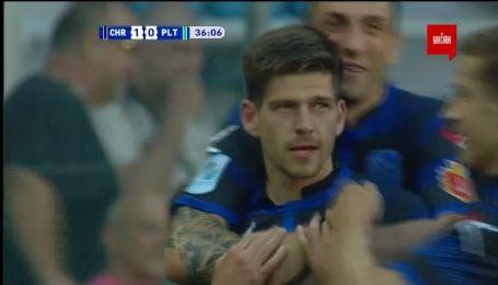 Чорноморець - Полтава - 1:0. Відео голу Ковальця