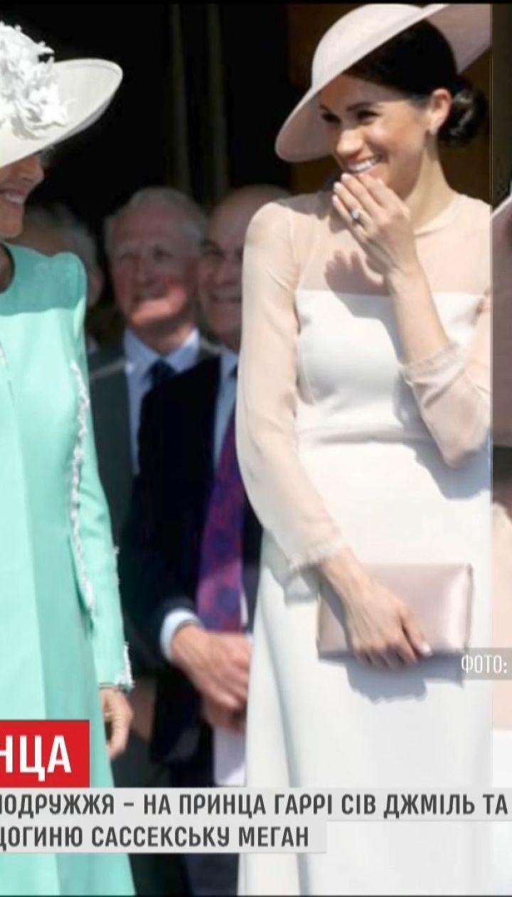 Первый выход в свет в статусе супругов принца Гарри и Меган Маркл развеселил шмель