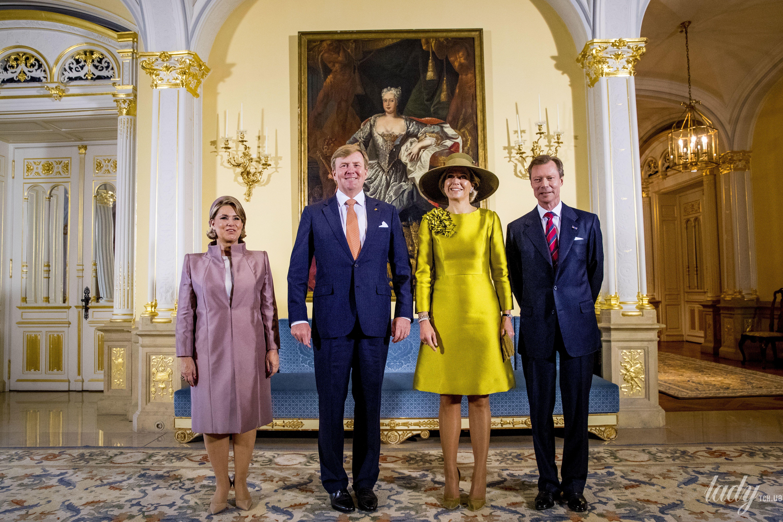 Великий Герцог Люксембургский Анри и Великая Княгиня Мария Тереза, король Нидерландов Виллем-Александр и королева Максима_1