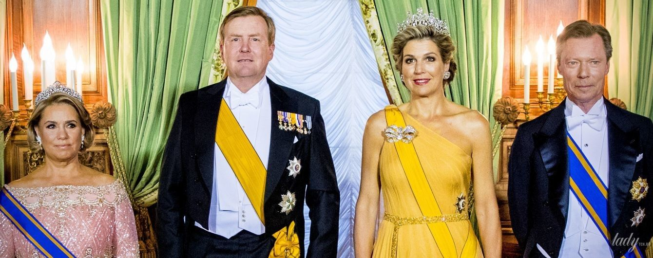 Вся в бриллиантах: вечерний выход королевы Максимы