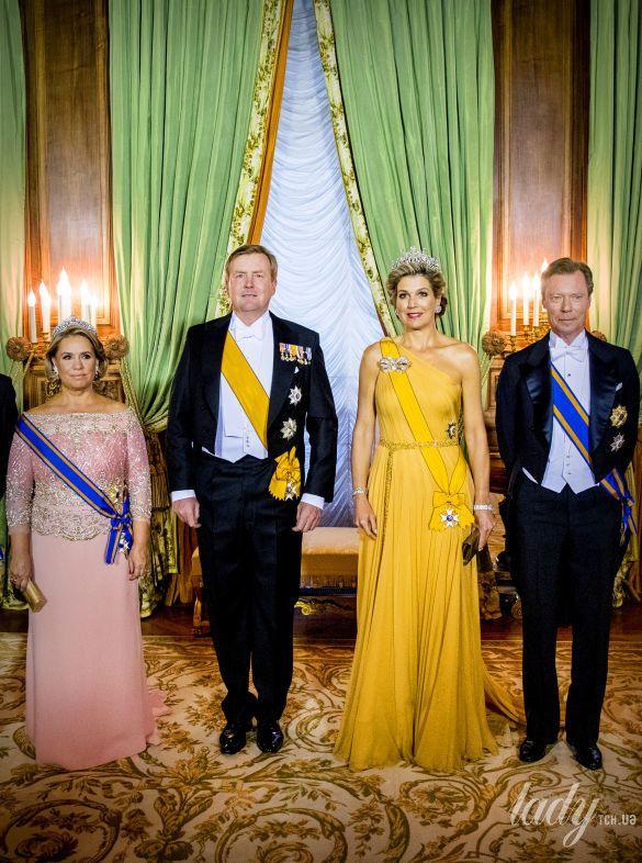 Великая Княгиня Мария Тереза, король Нидерландов Виллем-Александр, королева Максима, Великий Герцог Люксембургский Анри_2