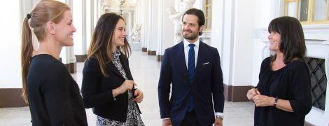 В очень скромном платье: принцесса София на деловом мероприятии