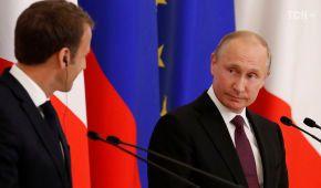 """Макрон закликав Путіна до """"колективної гри"""" на міжнародній арені"""