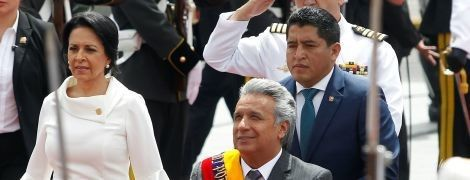 Красивый образ первой леди Эквадора на национальном празднике