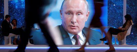 """Замість відповіді на запитання про МН17 Путін згадав """"збитий Україною"""" Ту-154"""