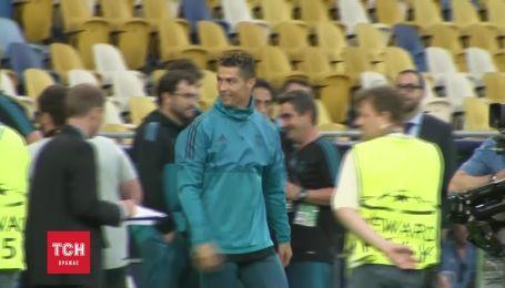 """Роналду протестував поле """"Олімпійського"""" перед фіналом Ліги чемпіонів"""