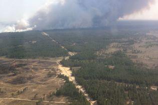 На Херсонщині палає 100 га лісу, пожежу гасять авіацією