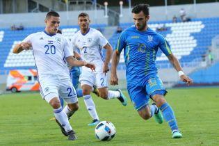Юношеская сборная Украины уступила Израилю на турнире памяти Валерия Лобановского