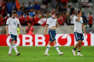 Россия проиграла Австрии перед стартом ЧМ-2018, не нанеся ни одного удара в створ ворот
