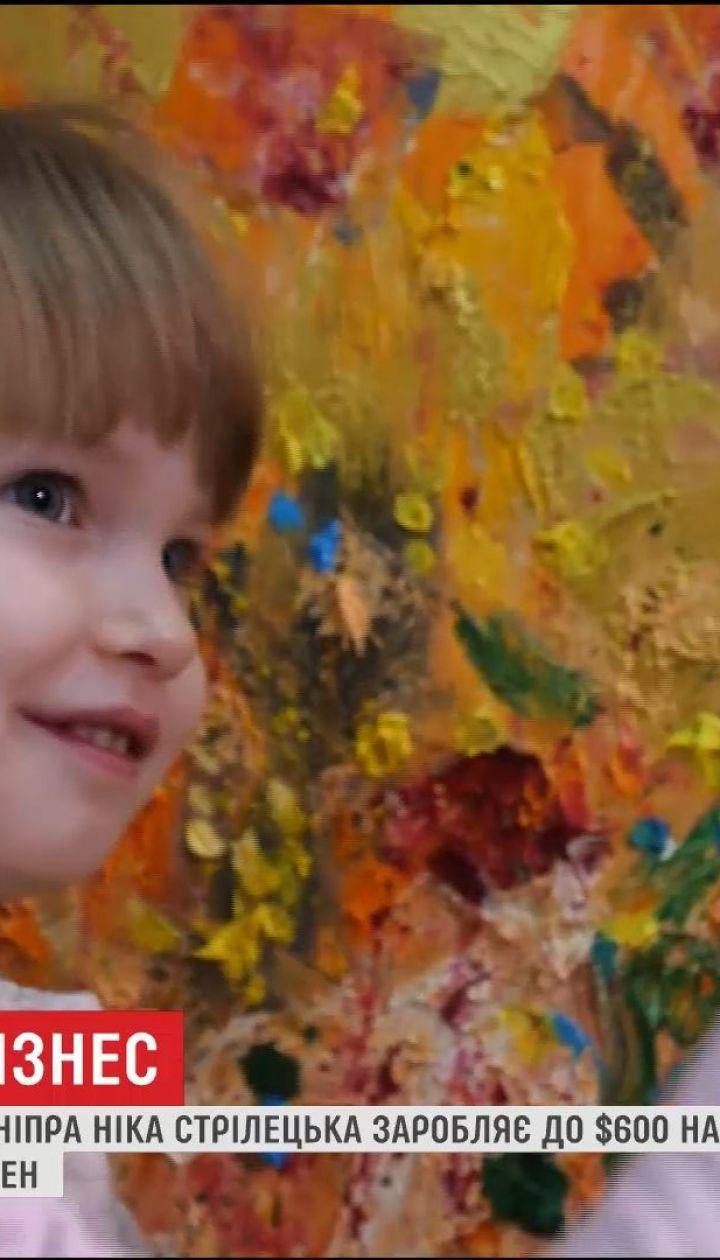 Маленький бизнес: 3-летняя Ника рисует картины, которые ценители готовы купить за сотни долларов