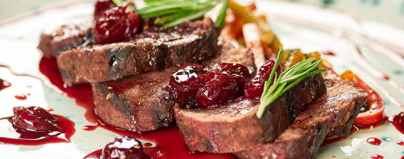Рецепты приготовления мяса в ягодных соусах