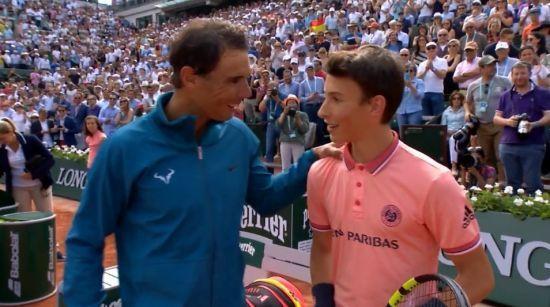 Перша ракетка світу Надаль виконав давню мрію болбоя після матчу на Roland Garros