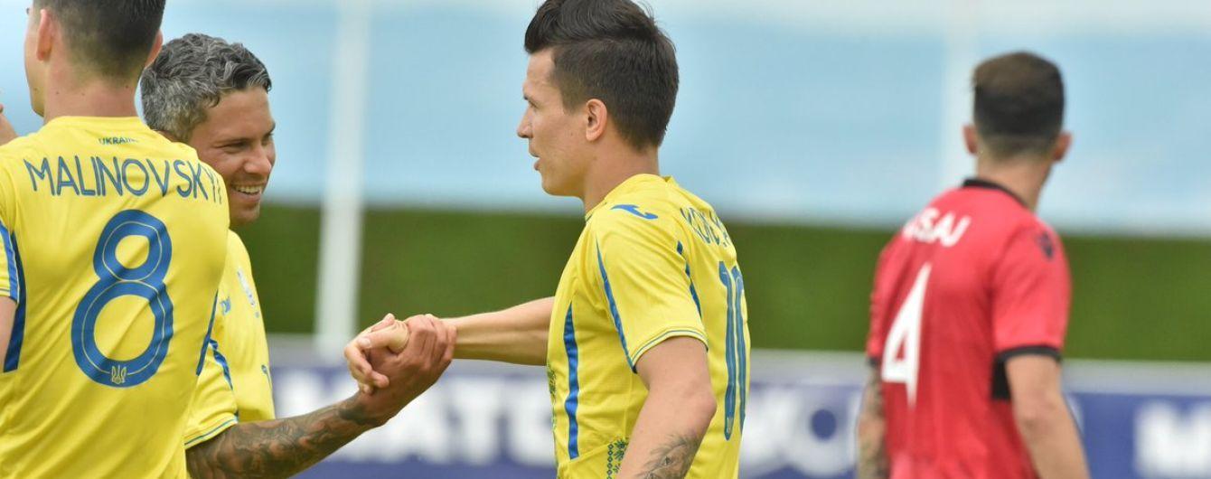 Збірна України завдяки божевільному першому тайму розгромила Албанію у контрольному спарингу
