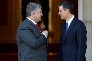 Порошенко провів зустріч з новим прем'єр-міністром Іспанії Педро Санчесом