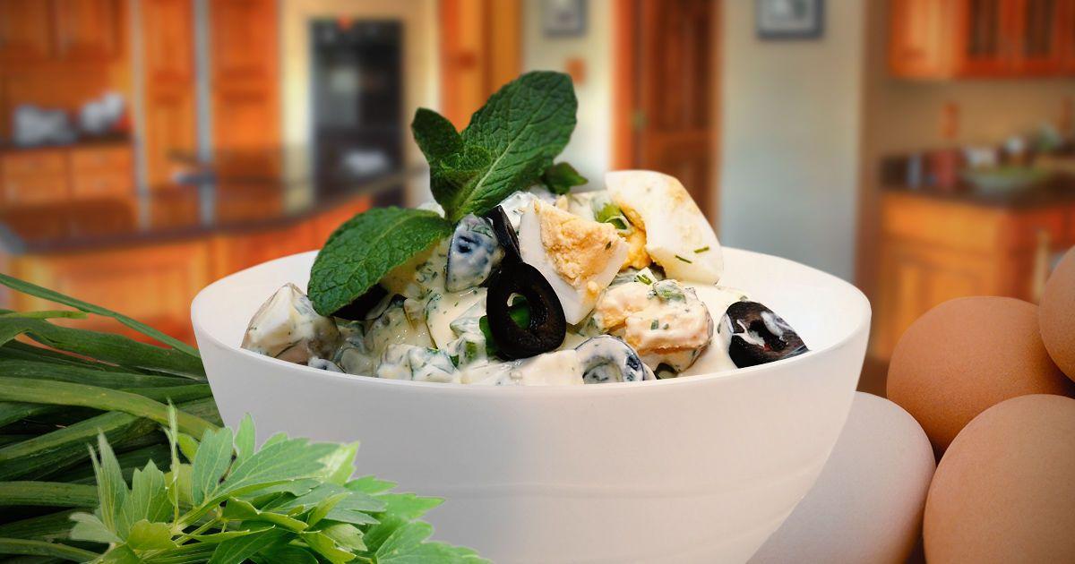 Оригинальный яичный салат
