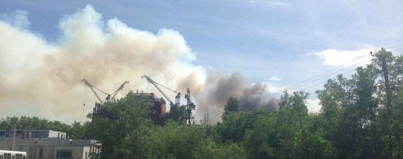 У Чорнобилі в лісосмузі почались значні пожежі